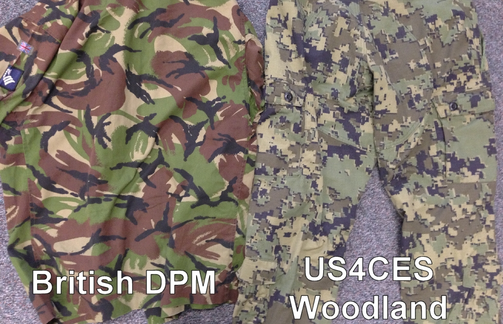US4CES Family of Camouflage Comparison PhotosUs4ces Woodland