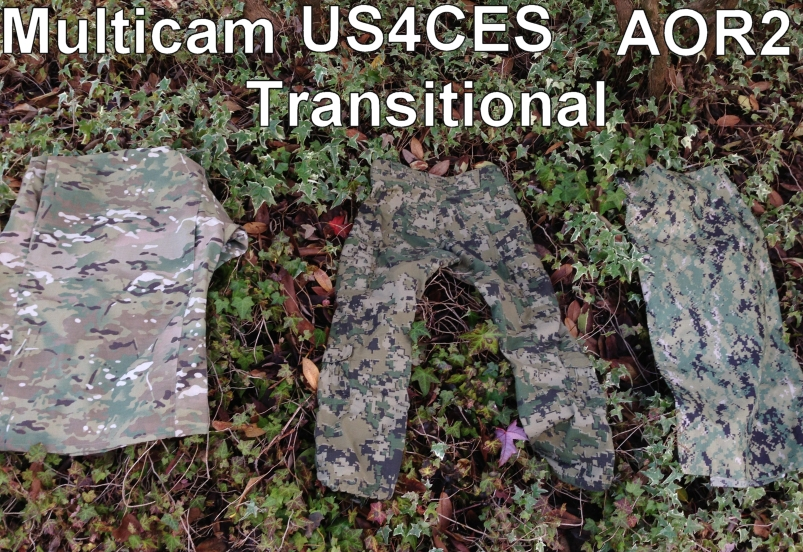 US4CES Family of Camouflage Comparison Photos